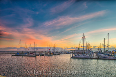 Corpus Christi sunrise, Sunrise, Texas Coast, bay, boats, city, coastal, colorful sky, docks, gulf, gulf of mexico, landscape, landscapes, marina, ocean, seascape, seawall, gulf cost images, Texas bea