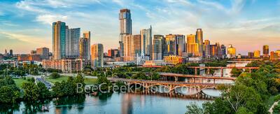 Austin Skyline along Lady Bird Lake