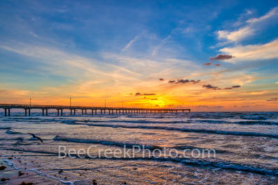Heavenly Sunrise Over Texas Beach
