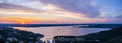 Lake Travis Sunset Pano2