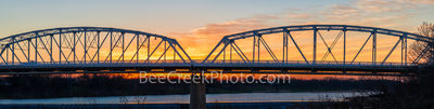 Llano bridge, sunset, pano, panorama, texas hill country,