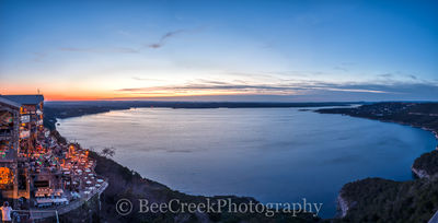 Austin, Lake Travis, Oasis, landscape, night, pano, panorama, restaurant, sky, sunset, tourist, twilight,
