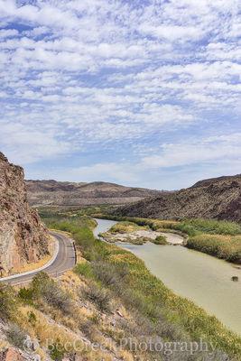 Big Bend State Park, Rio Grande River, big hill, fm170 cattails, overlook, river road, scenic, vertical