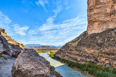 Big Bend National Park, Chiso mountains, Rio Grande, River, Santa Elena, big bend, blue skies, boulder, canyon, landscape, scenic, visita