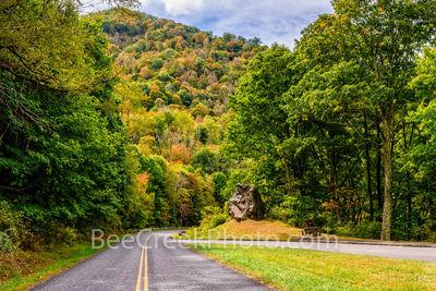 Standing Rock overlook, Blue Ridge parkway, blue ridge mountains, fall colors, Waynesville, Smoky mountains, road, rock, autumn,