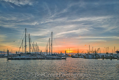 Sunrise Over the Marina