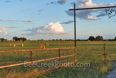 Texas Haybales at Ranch