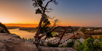 Austin 360 Bridge at Sunrise Pano