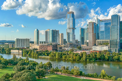 Austin Aerial Park View. park, Austin, Aerial, Skyline, Austin aerial skyline, downtown,Independent, jingle, building, google, lady bird lake, town lake, park, Vic Mathias Shore, auditorium shores, ci