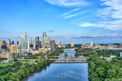 Austin, aerial, skyline, skylines, cityscape cityscapes, city, downtown, cities, urban, modern, architecture, bridges, Lamar, Congress, , austin skylines, austin cityscapes, drone,