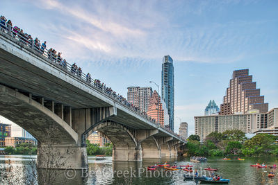 Austin, skyline, bats, cityscape, city, downtown Ann Richards Congress Ave. bridge, ladybird lake, boats, kayak, lifestyle, people, , austin skylines, austin cityscapes