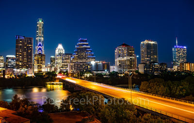 Austin, skyline, images of Austin, skylines,  Austin skyline images, street scene,  cityscape, city photos,  photography, city,  downtown, iconic, buildings, Congress Avenue, bridge, street scene, dar