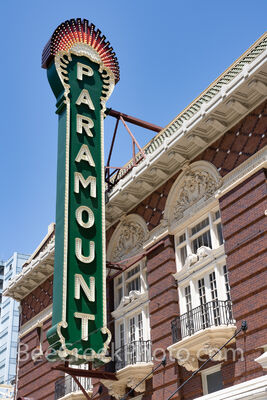 Austin Paramount Theatre Sign Vertical