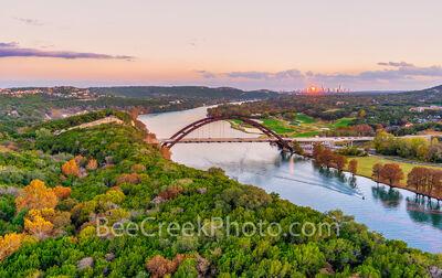 Austin Pennybacker Bridge Pano Twilight