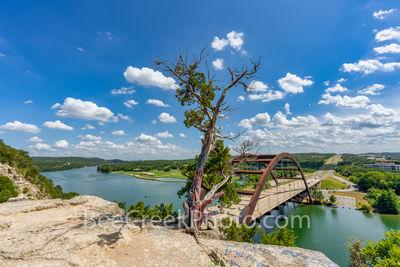 Austin Pennybacker Overlook, Austin 360 Bridge, Pennybacker bridge, capitol of texas highway, texas hill country, lake austin, austin texas, city of austin, austin 360,
