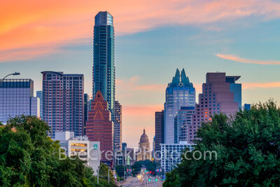 Austin Skyline and Texas Capitol Sunrise 2