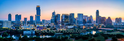 Austin Skyline Dawn Pano