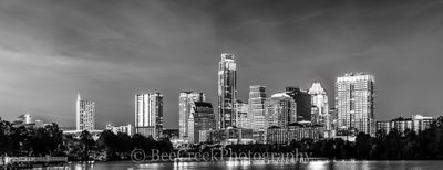 Austin Skyline in Black and White