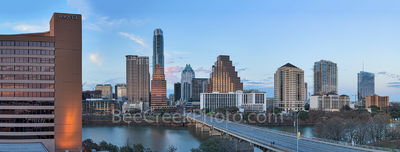 Austin Sunset Skyline Pano