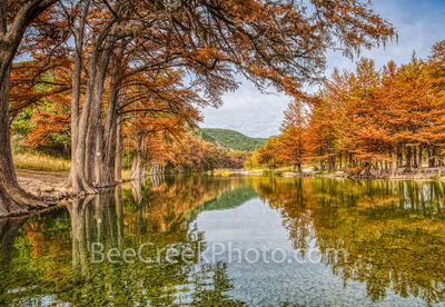 Texas, autumn, hill country, texas hill country, frio river, rivers, cypress, trees, fall scenery, yellow, orange, clear water, rocks, pebbles, fall season,  garner, river, texas rivers, spring fed,