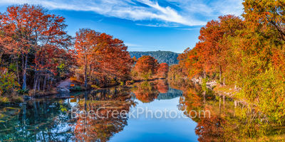 Autumn on Guadalupe River Pano 2