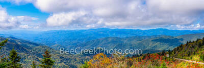 Smoky Mountain, Scenery, pano, panorama, scenic, Mountain, blue ridge mountains, blue ridge parkway, haze, Fall, autumn, Scenery, Pano, vista, panorama, scenic, blue ridge parkway, fall colors, yellow
