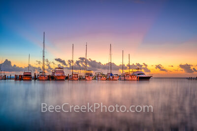 Colorful Dawn at Fulton Harbor - Texas Coast