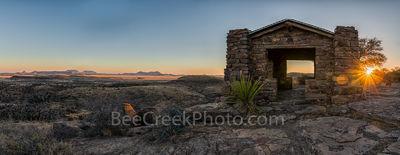 Davis Mountain Sunset Overlook Pano