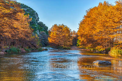 Concan, Frio River, Hill Country, River, clear, colors, cool, cypress, fall, fall landscapes, flowing, images of Texas, landscape, landscapes, orange, photos of Texas, pictures of texas, rocks, rural