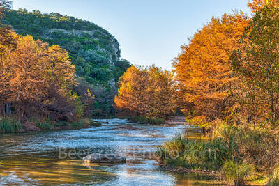 America, American, Concan, Texas Hill Country, River, clear, colors, cool, cypress, fall, flowing, images of Texas, landscape, landscapes, orange, photos of Texas, pirctures of texas, rocks, rural, ru