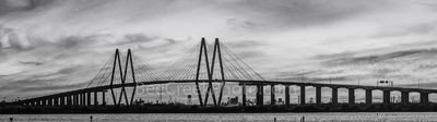 Houston, Baytown, La Porte, Texas, Fred Hartman Bridge,BW, black and white, cityscape, cityscapes, ship channel,landscape, landscape, architectural, architecture, bridge, pano, panorama,