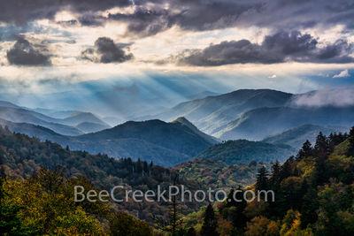 Heavenly Light Over Blue Ridge