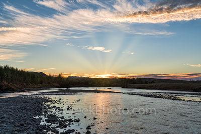 Big Bend National Park, Rio Grande river, sunrise, rocks, shallow, desert landscape, cattails, river edge,