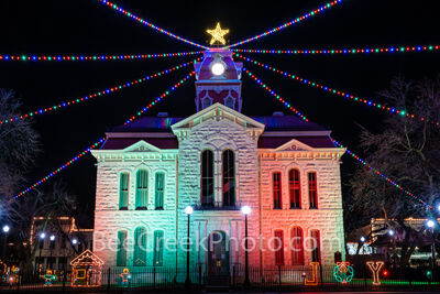lampasas county courthouse, lampasas, court house, courthouses, texas hill country, texas, county courthouses, christmas, christmas lights, holidays, holiday lights, downtown lampasas,