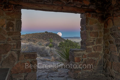 Moon Rise at Fort Davis Mountains