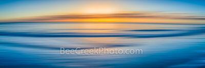 Ocean Blue Abstract Pano
