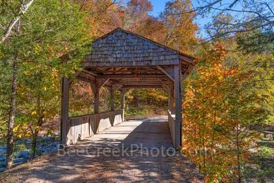 Ozarks Covered Bridge in Fall