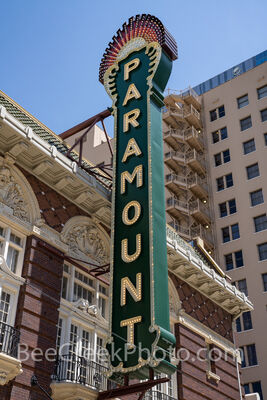 Paramount Theatre Sign Vertical 2