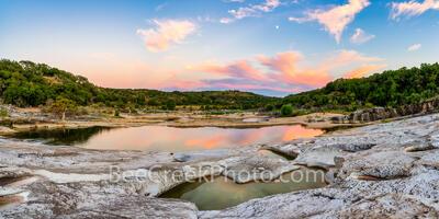 Pedernales Falls Sunset Reflections Pano 2