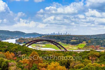 texas, austin, austin pennybacker bridge, austin 360 bridge, austin 360, 360 bridge,  fall, autumn, colors orange, red, yellows, images of austin, austin images, bridge, pennybacker bridge austin, lak