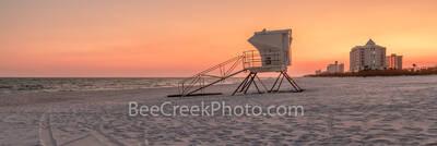 Pensacola Lifeguard Station Sunset Pano