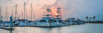 Port Aransas Marina Sunset Pano