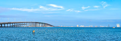 Queen Isabella Bridge, South Padre island, south padre, pano, panorama, bridge, landmark,