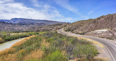 Big Bend State Park, FM170, Mountains, Rio Grande River, aerial, cattail, landscape, mexico, natural, nature, pano, panorama, river road, us, water
