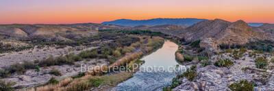 Rio Grande River Dusk Pano