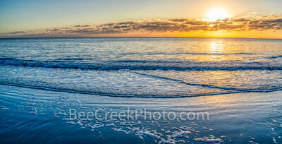 beach scene, seascape, sea and sand, ocean, waterscape, surf, tide, ocean scene,  beach scenery, beach, beaches, georgia beach, alantic ocean, southern usa, beach sunrise, blue water, georgia coastlin