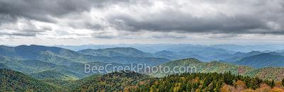 Shadows over Blue Ridge Mountains Pano