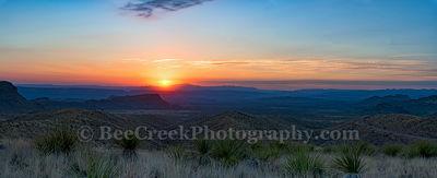 Sotol Overlook Sunset Pano