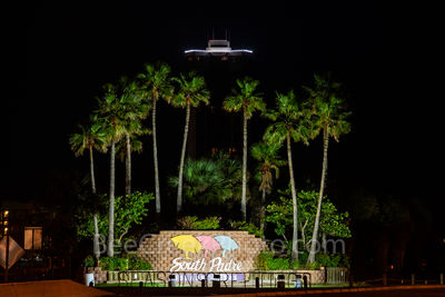 South Padre Island, entrance, dark, palms, trees, barrier island, 6 miles, tourist, winter, travel, subtropical, weather,