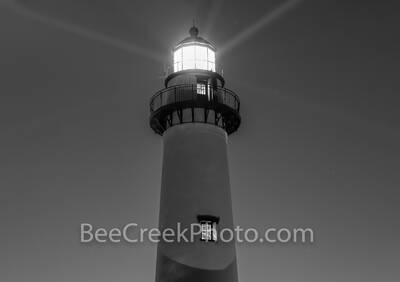 St. Simon Lighthouse B W